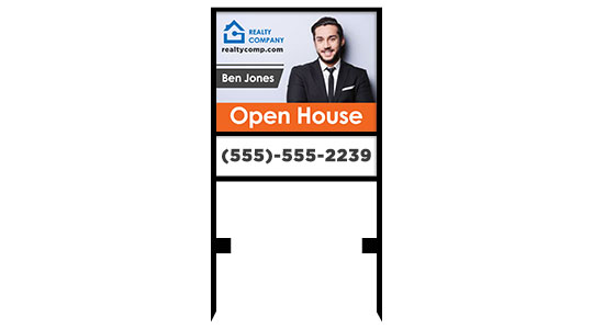 Real Estate Sign w/ Frame